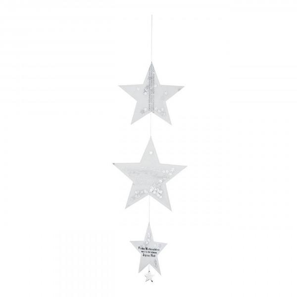 Räder Transparent - Sternen - Kette, 55 cm, silber