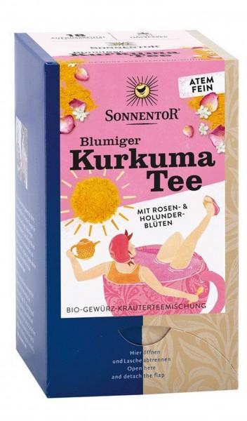 Blumiger Kurkuma Tee -Sonnentor
