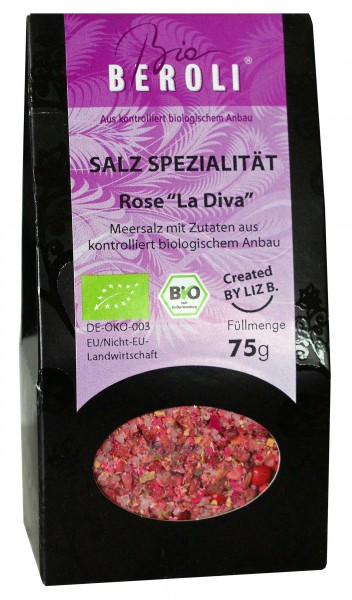 Salzkreation Rosensalz La Diva bio, 75 g, Bio Beroli