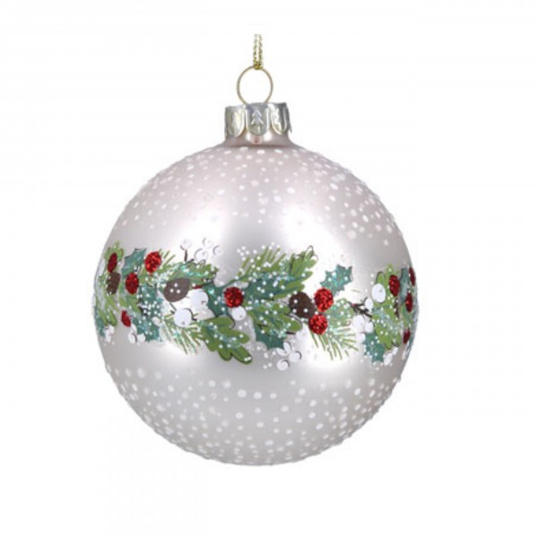 Gisela Graham - Weihnachtskugel/Ball - Leaf-Berry Band