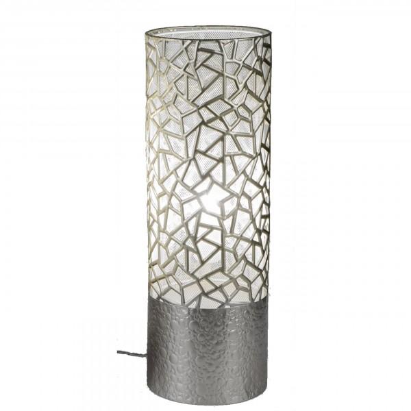 Formano - Deko Lampe rund, Metall - Design silber, 18x54cm