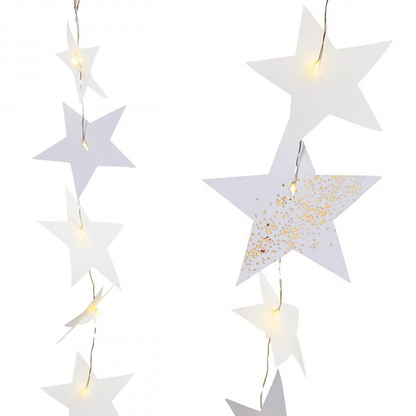 Räder-Weihnachtszauber - Sternenlichter Kette LED, gold