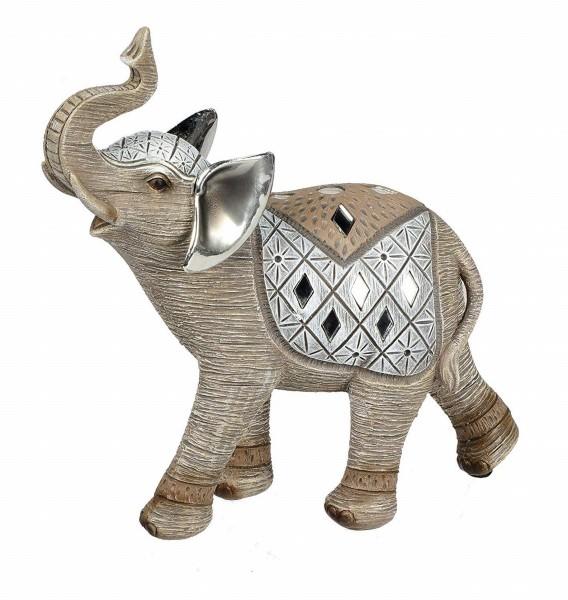 Formano Dekofigur - Elefant mit Mosaik und Spiegelsteinchen