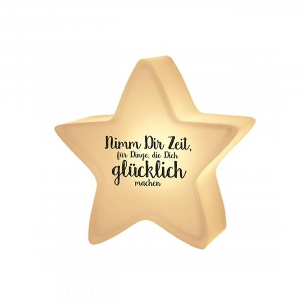 """Geschenk für Dich:-) Nachtlicht-Stern """"Nimm dir Zeit, für Dinge..."""""""