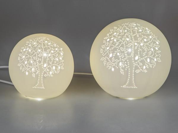 Formano Kugel-Lampe Lebensbaum Porzellan, 16cm
