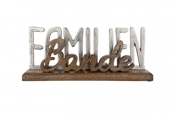 "Gilde Schriftzug ""Familienbande"" auf Holz-Base"