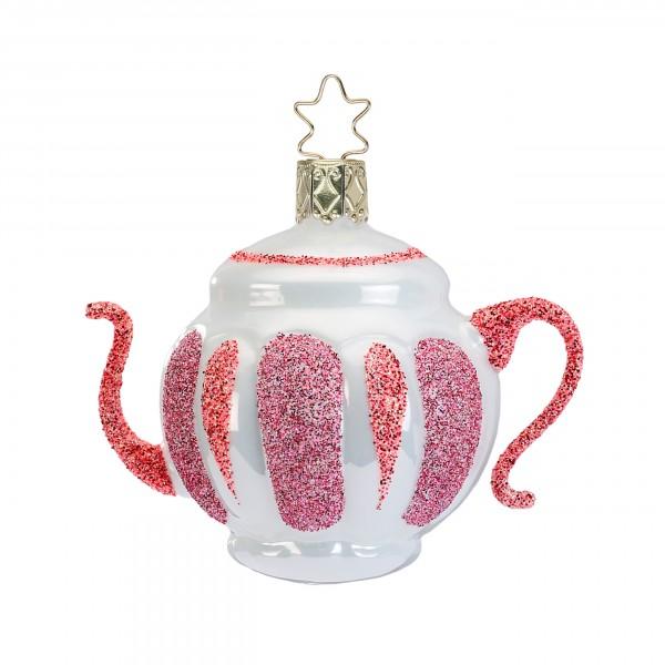 Inge-Glas Anhänger Verrückte Teekanne 7cm - Christbaumschmuck