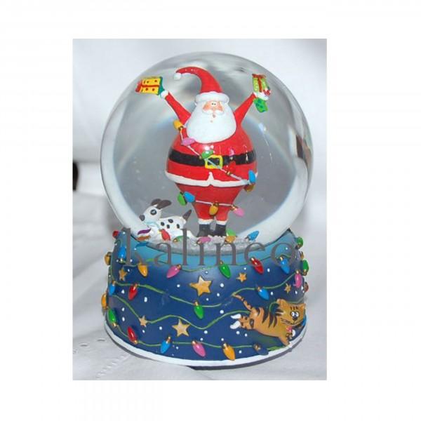Spieluhr Schneekugel Happy Santa