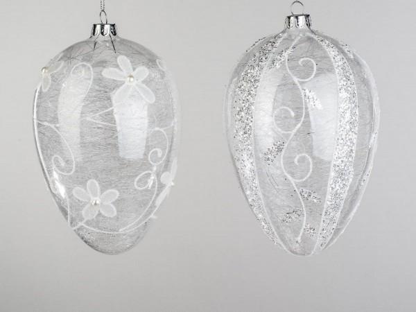 Formano - Glasei zum Aufhängen (mit Glasfäden und Blüten, 9 cm)