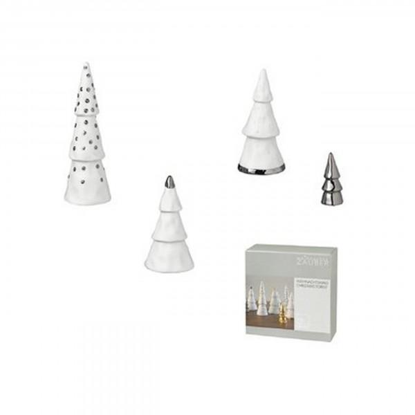 Räder Design - Winterzeit - Weihnachtswald, silber 4er Set