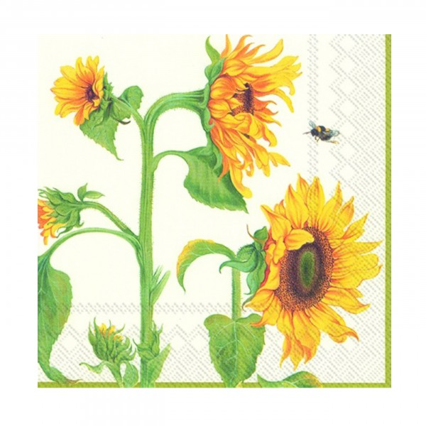Serviette Helianthus Annuus cream