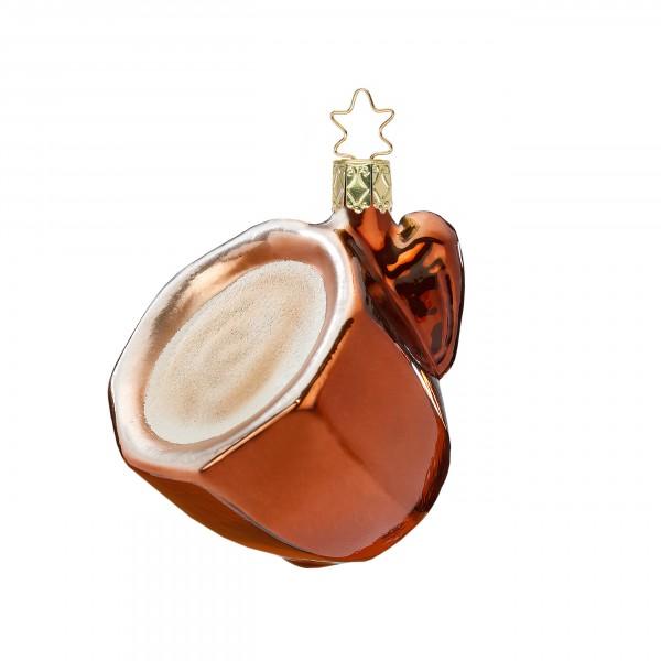 Inge-Glas Anhänger - Cafè Crema 5cm, Christbaumanhänger
