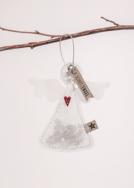 "Good old friends - Winter Glitzer Ornament - Engel ""Schutzengel"""