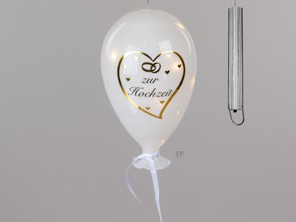 Formano Ballon mit LED - Zur Hochzeit, 20cm
