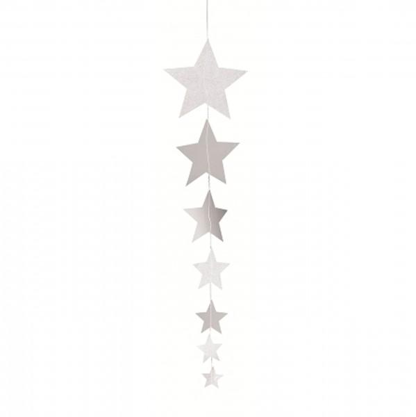 Räder Design - X-mas Paper Stars Kette, 50 cm blanko