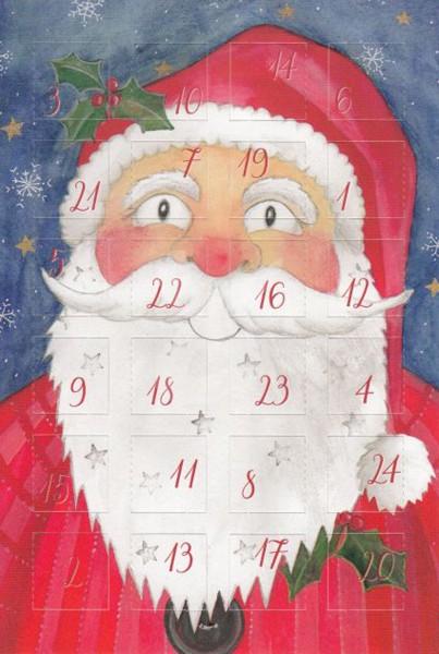 Adventskalender-Karte Weihnachtsmann, 3er Pack