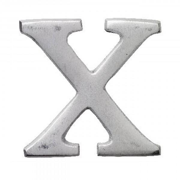 Aluminium Buchstabe X