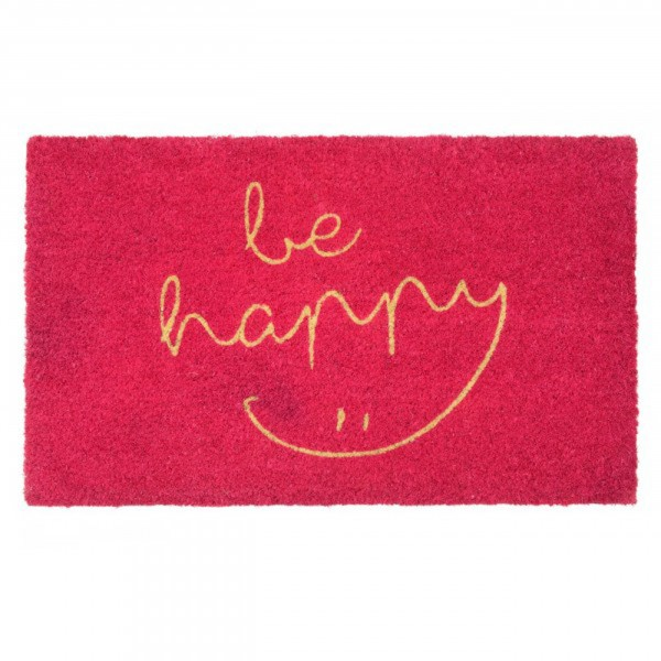 Fussmatte - Gift Company, be happy - pink