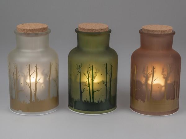 Formano LED-Winter-Vase mit Timer Funktion, ca. 25 cm