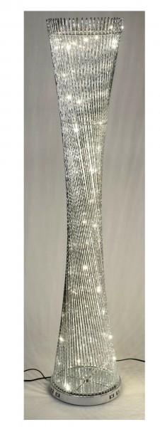 Formano LED Aluminium - Stehlampe rund gedreht; silber mit LED Licht - 145cm