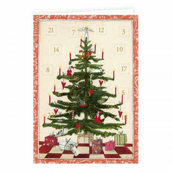 Adventskalender Karte, Weihnachtsbaum