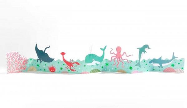 Good old Friends - Kinder Tischgirlande - Unterwasser - Delphin, Wal...