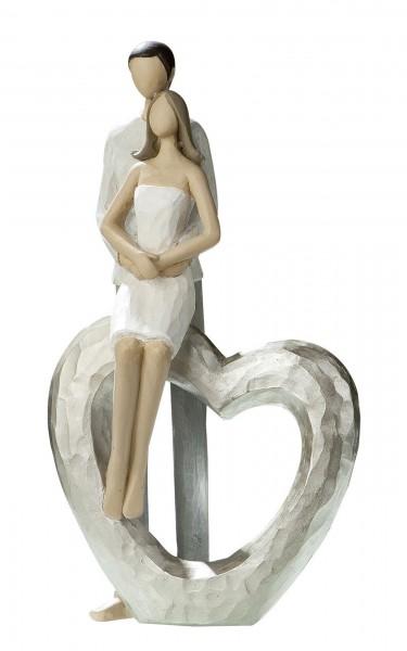 Gilde Figur Liebespaar - Umarmung Herz