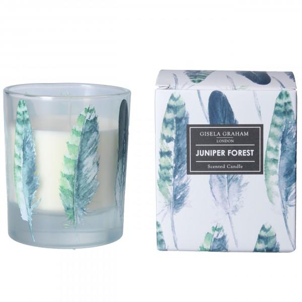 "Gisela Graham - Duftkerze ""Juniper Forest"" - im Feder Design"