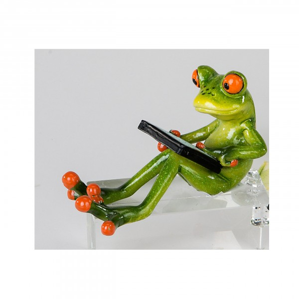 Frosch Tablett, sitzend