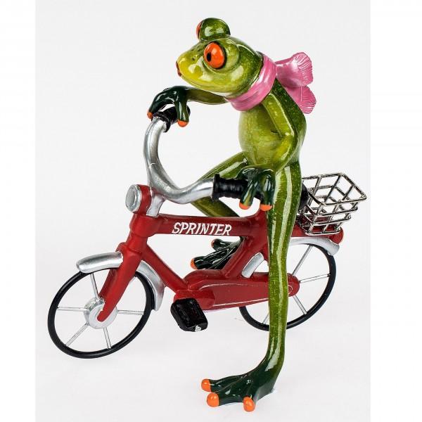 Frosch-Lady auf Sprinter - Fahrrad