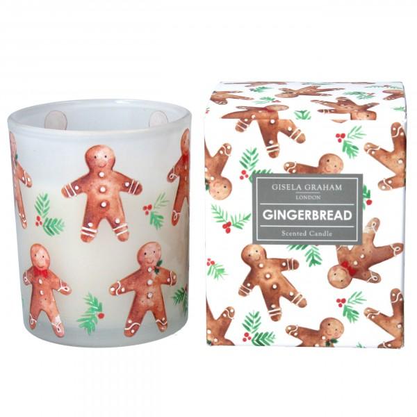 """Gisela Graham - Kleine Duftkerze """"Gingerbread"""" im weihnachtlichem Design"""