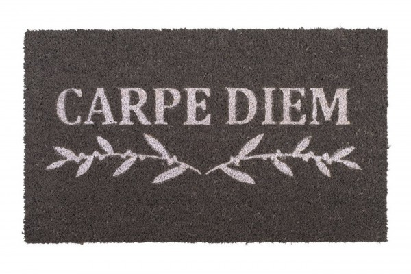 Fussmatte - Gift Company, Carpe Diem, grau