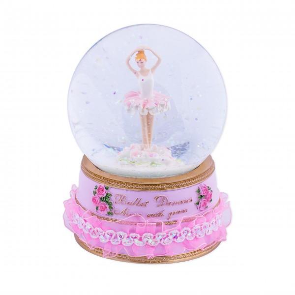 Spieluhr Glitzerkugel mit Ballerina