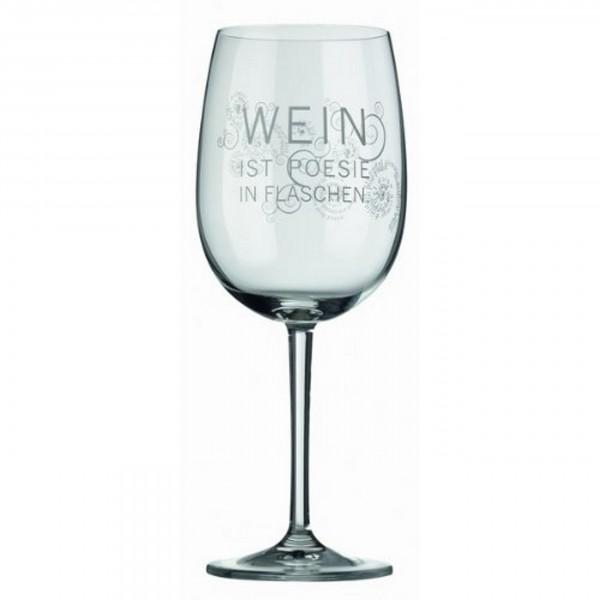 Räder Rotweinglas - Wein ist Poesie in Flaschen.