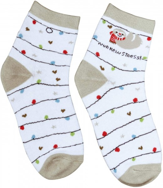 Sheepworld Winter-Zaubersocken - Faultier - Happy Live