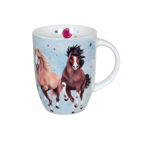 Könitz Becher Pferdefreunde Horses lightblue