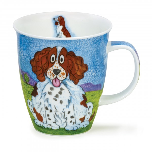 Dunoon Becher - Happy Dogs, Spaniel