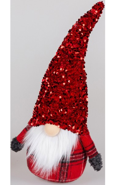 Formano - Türstopper Wichtel mit Glitter Mütze rot, 40cm (1Stück)