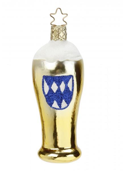 Inge-Glas Anhänger Weißbier mit Bayernraute 9,5cm