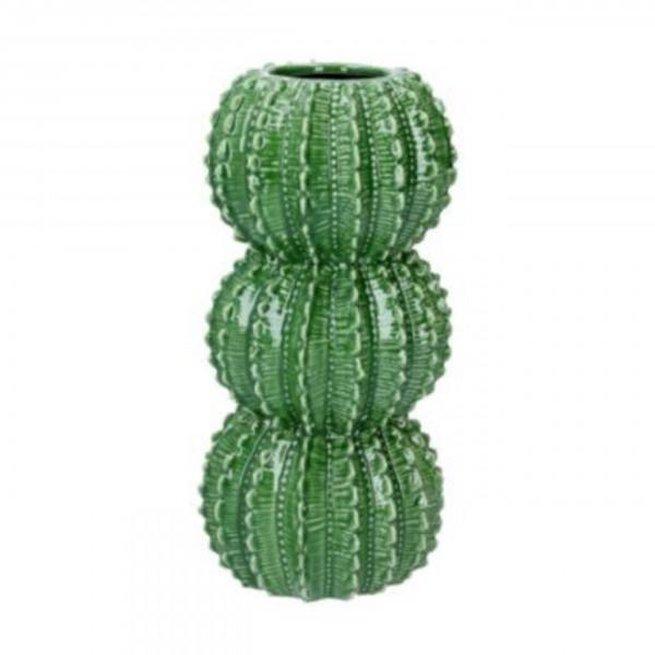 Gisela Graham - Porzellan Vase 23cm - Grüner Kaktus