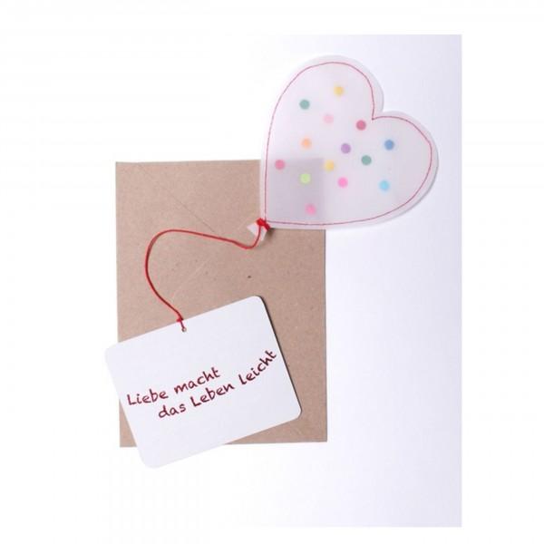 """Good old Friends - Ballon Card """"Liebe macht das Leben leicht"""""""