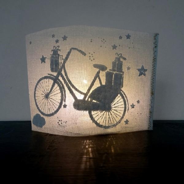 """Good old Friends - Winter Lichtpost """"Fahrrad"""""""