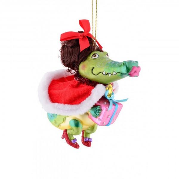 Hänger Miss Krokodil mit Geschenk