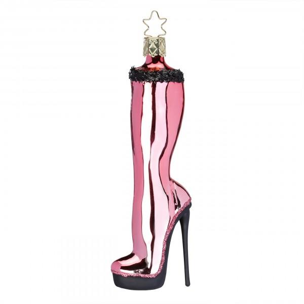 Inge-Glas Anhänger - Reizvoller Stiefel 13cm Weihnachtsanhänger