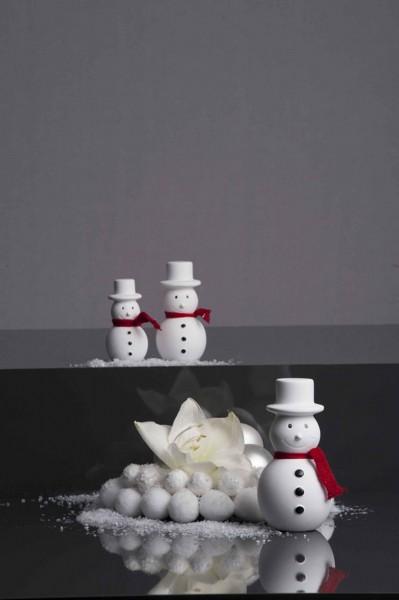 Valentino Schneemann Frosty mit rotem Schal (12 cm)
