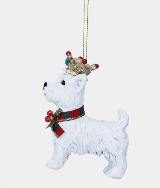 Gisela Graham Anhänger, West Highland Terrier mit Krone