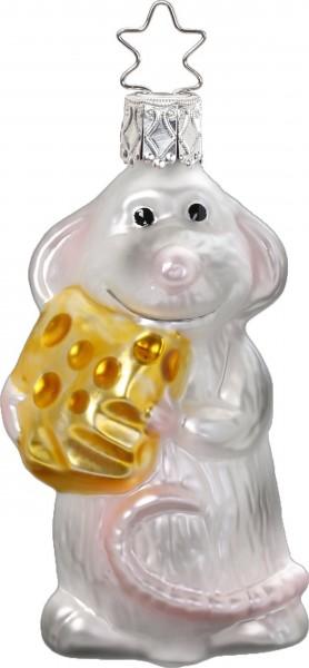 Inge-Glas Anhänger Maus mit Käse - Finger weg!