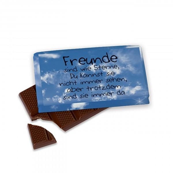 Schokolade für Dich :-) 40 g, Freunde sind wie Sterne.....