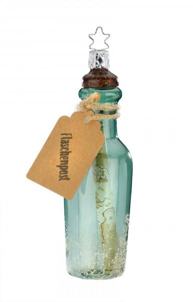 Inge-Glas Anhänger Flaschenpost 13,5cm