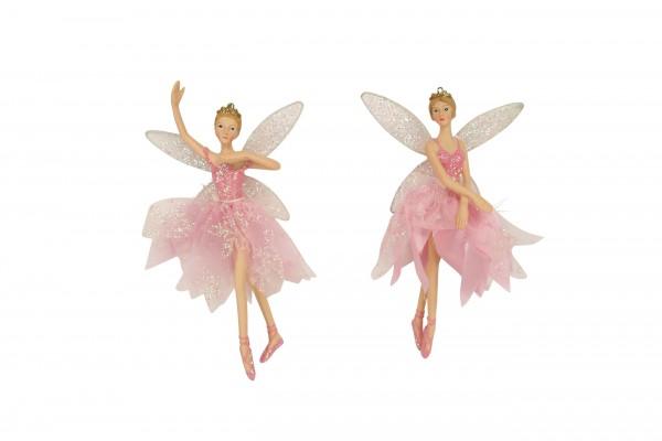 Gisela Graham, Pink Ballerina-Fee mit Glitzer Flügeln